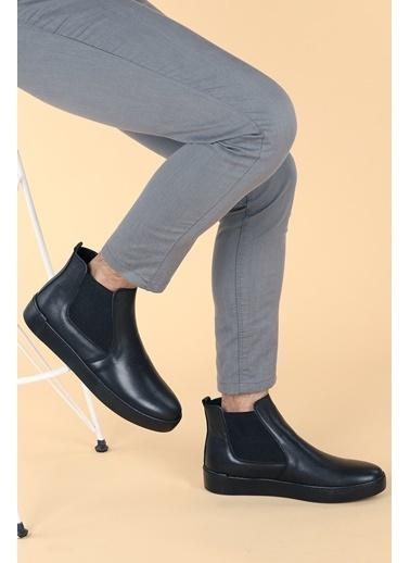 Ayakland Hrz 103 Deri Termo Dikişli Erkek Bot Ayakkabı Siyah